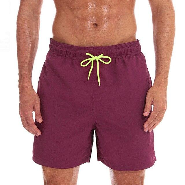topman topgoldman boss elegant swim gym running shorts for men-Wine red-L