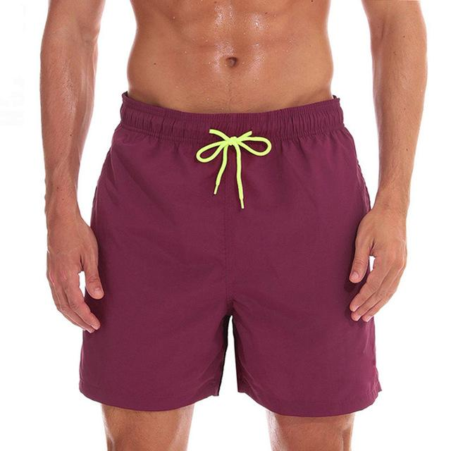 topman topgoldman boss elegant swim gym running shorts for men-Wine red-M