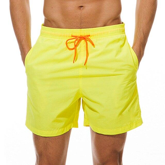 topman topgoldman boss elegant swim gym running shorts for men-Yellow-M