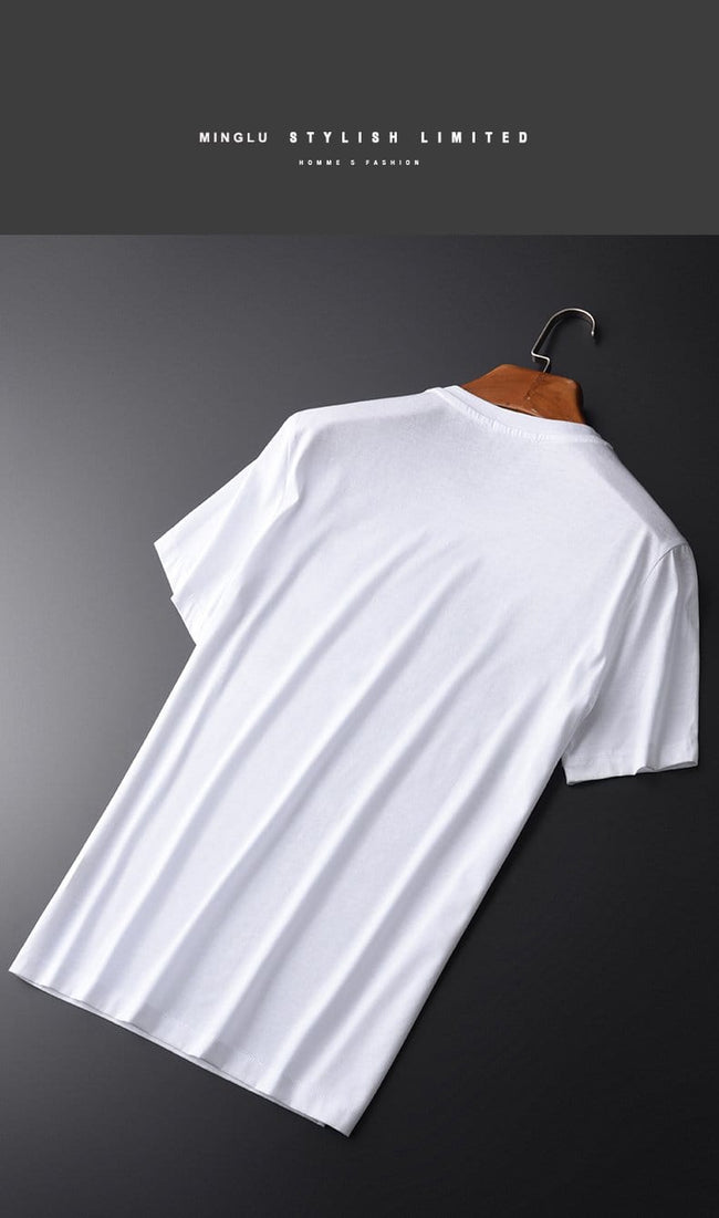 topman topgoldman boss luxury elegant t-shirts for men-WHITE-L