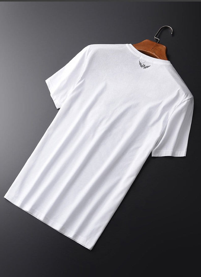 topman topgoldman boss luxury elegant t-shirts for men-WHITE HT-XZ19143-M
