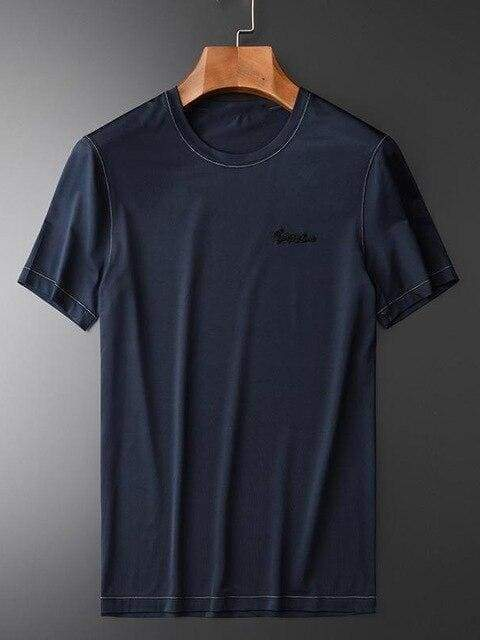topman topgoldman boss luxury elegant t-shirts for men-BLUE HT-XZ19027-M