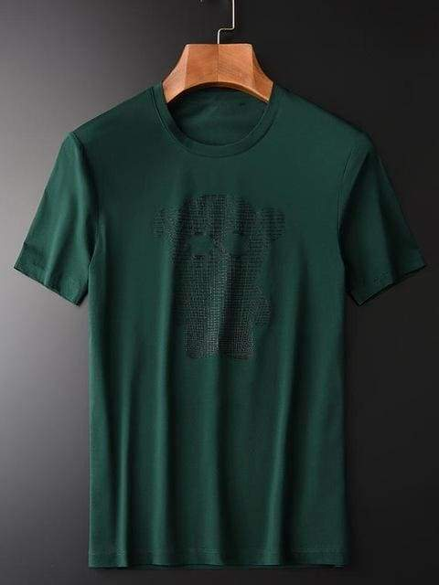 topman topgoldman boss luxury elegant t-shirts for men-GREEN-4XL