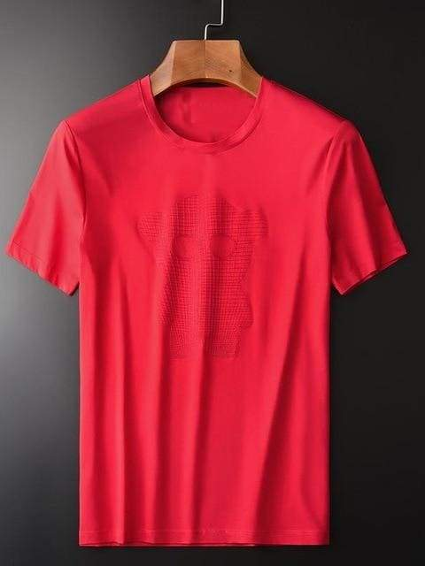 topman topgoldman boss luxury elegant t-shirts for men-RED-L