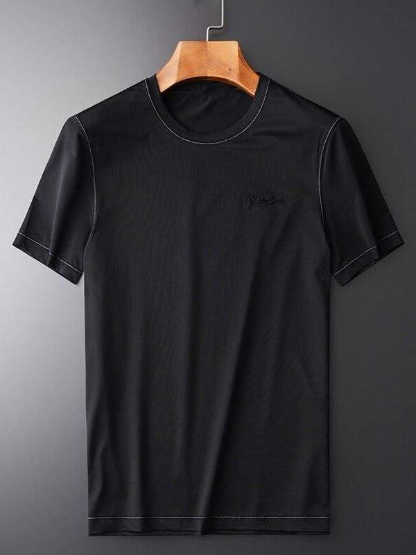topman topgoldman boss luxury elegant t-shirts for men-BLACK HT-XZ19027-XL
