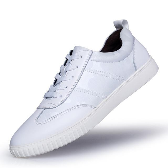 topman topgoldman boss luxury elegant genuine leather trainers for men-White-6