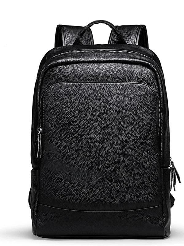topman topgoldman boss genuine leather bag backpack for men-Back Layer Leather-
