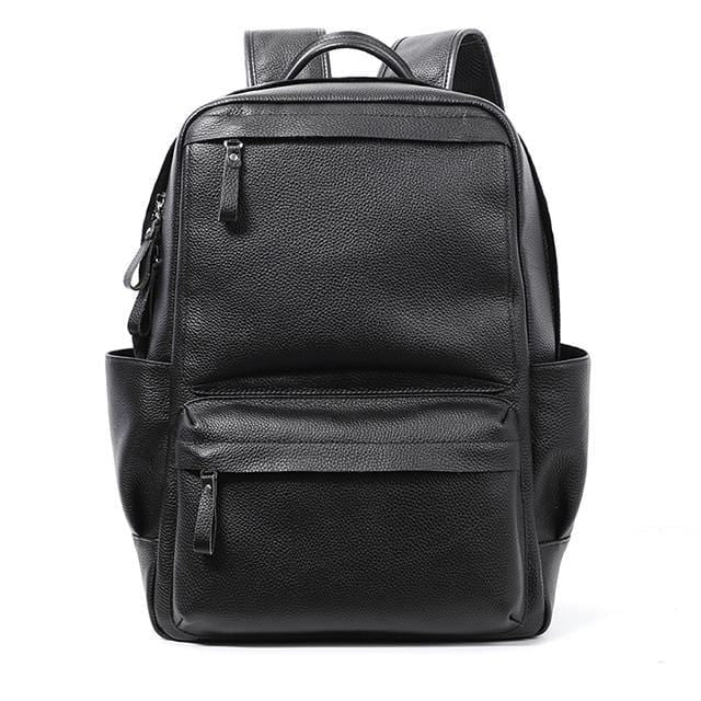topman topgoldman boss genuine leather bag backpack for men-black 2-2020