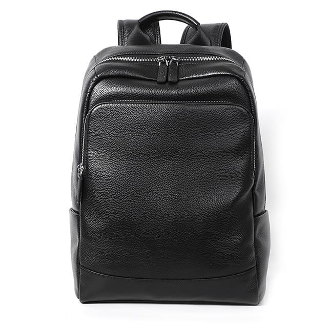 topman topgoldman boss genuine leather bag backpack for men-black-2020