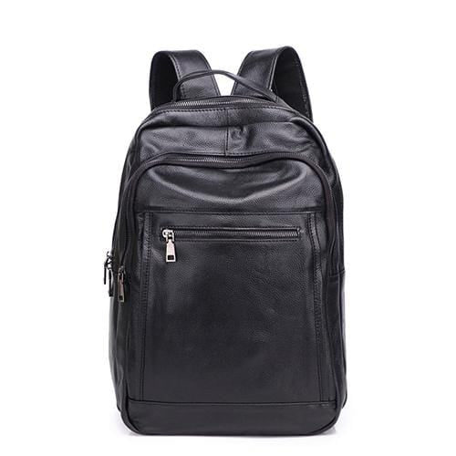 topman topgoldman boss genuine leather bag backpack for men-Black 2655-4-