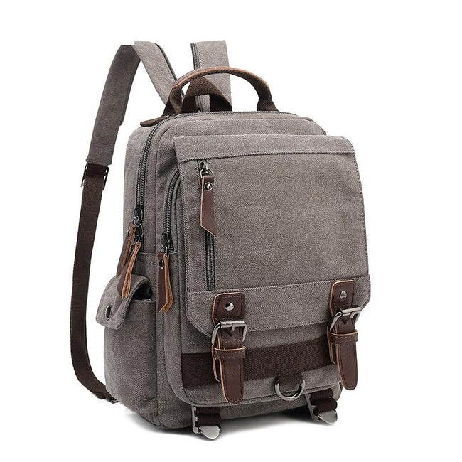 top goldman Treviso Canvas Backpack army green