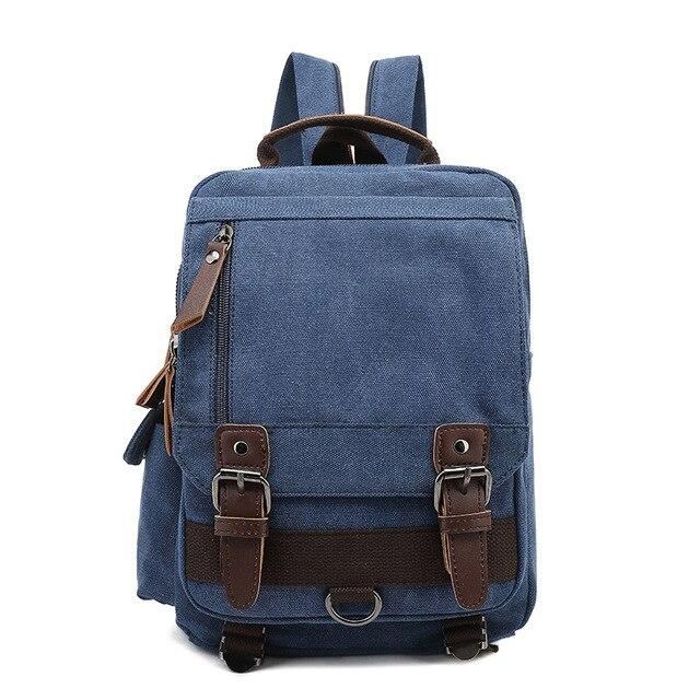 top goldman Treviso Canvas Backpack blue