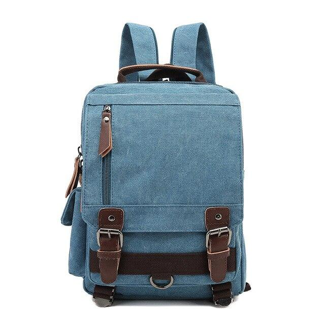 top goldman Treviso Canvas Backpack light blue