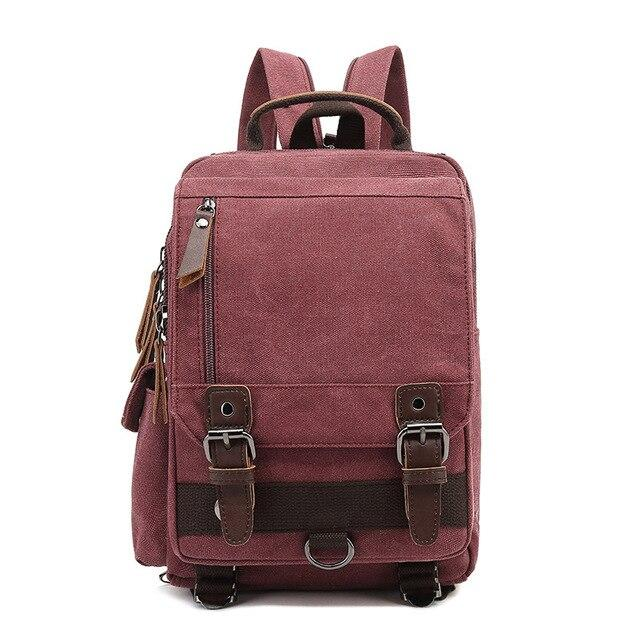 top goldman Treviso Canvas Backpack rose red