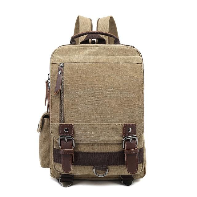top goldman Treviso Canvas Backpack yellow