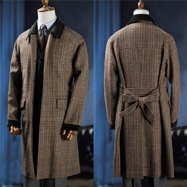 Treviso Single-Breasted Coat overcoats for men MULTI M