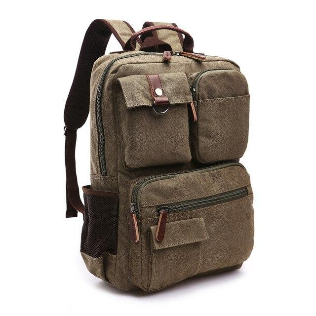 top goldman Varallo Canvas Backpack army green