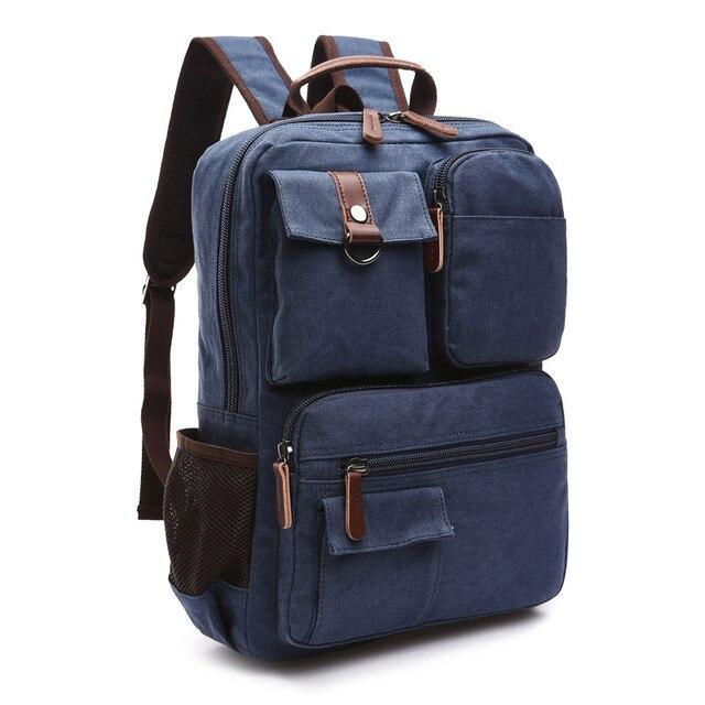 top goldman Varallo Canvas Backpack blue