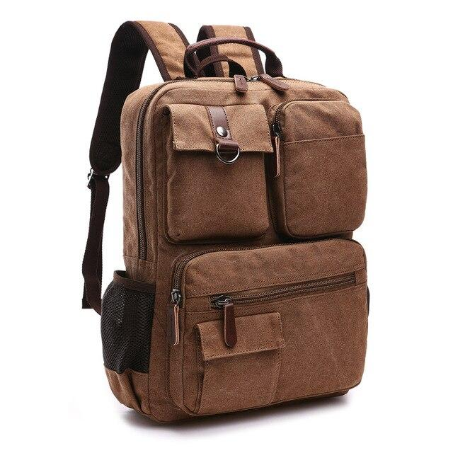 top goldman Varallo Canvas Backpack coffee