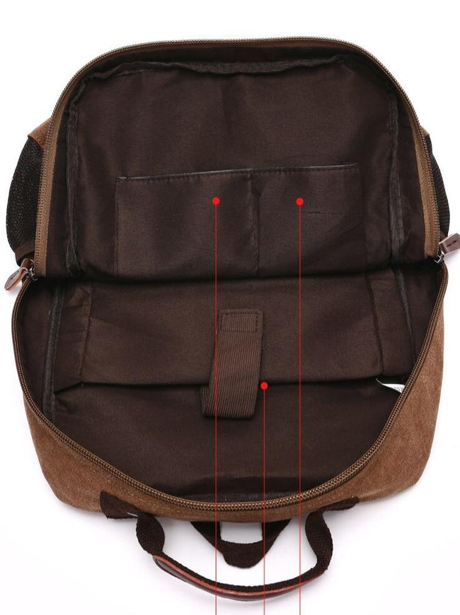 top goldman Varallo Canvas Backpack gray