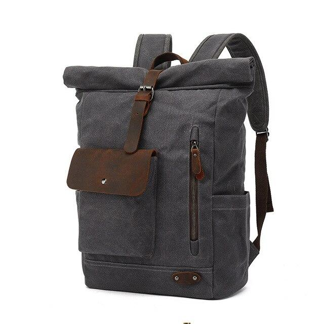 top goldman Varallo Canvas Travel Backpack gray