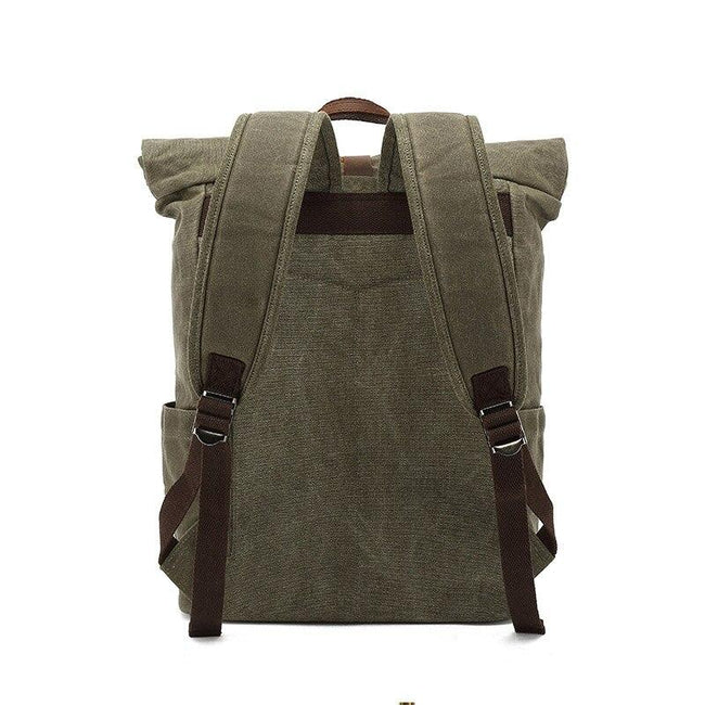 top goldman Varallo Canvas Travel Backpack khaki