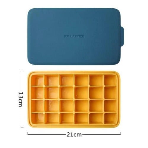 LifeProofLab - LifeProofLab™ Stackable Ice Cube Tray - Rectangular / Blue / Yellow