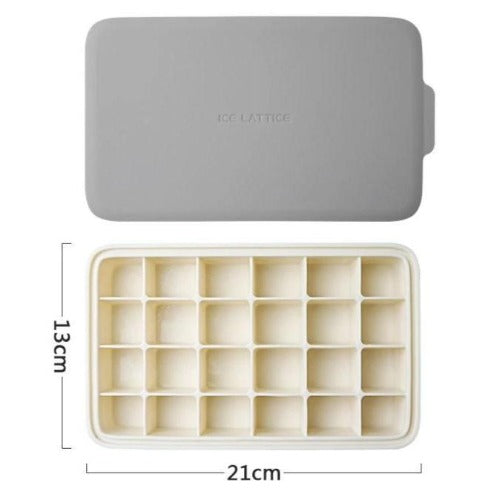 LifeProofLab - LifeProofLab™ Stackable Ice Cube Tray - Rectangular / Grey / White