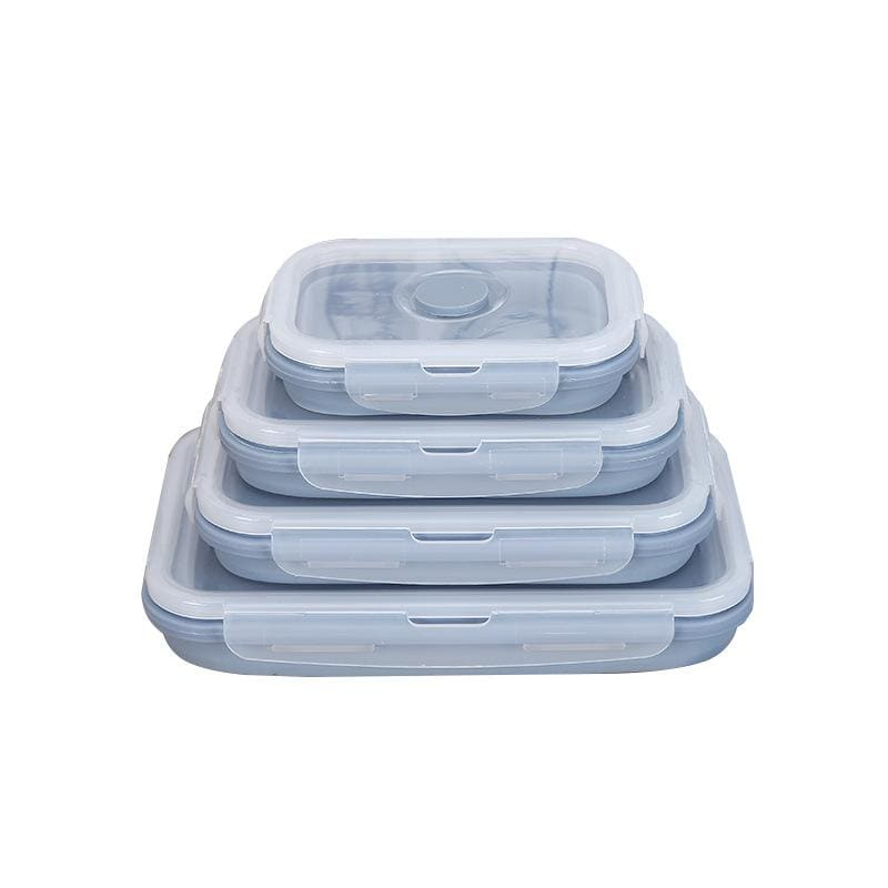 LifeProofLab - LifeProofLab™ Easy Food Containers - Rectangular / Blueberry / 4 Sizes Bundle
