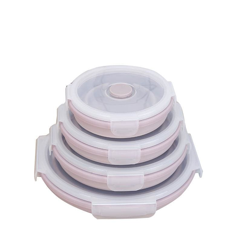 LifeProofLab - LifeProofLab™ Easy Food Containers - Round / Pink Guava / 4 Sizes Bundle