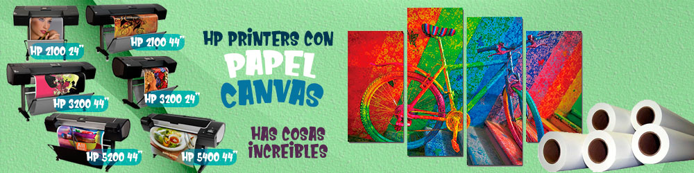 IMPRESORAS HP CON PAPEL CANVAS
