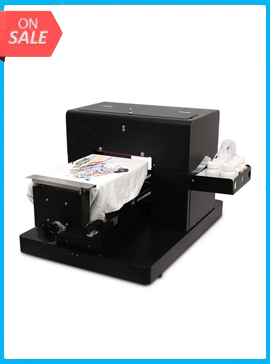 2020 hot selling A4 size flatbed printer DTG Printes T-shirt Print machine for dark color white color T-shirt print directly