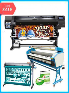 "COMPLETE SOLUTION - Plotter HP Latex 560 64"" - Recertified - (90 Days Warranty) + GRAPHTEC CUTTER CE6000-120 48"" Cutter - New + Upgraded Ving 63"" Full-auto Low Temp. Wide Format Cold Laminator, with Heat Assisted + Includes Flexi RIP Software"