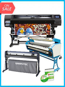"COMPLETE SOLUTION - Plotter HP Latex 560 - Recertified (90 Days Warranty) + GRAPHTEC CUTTER FC9000-160 64"" (162.6 cm) Wide Cutter - New + Upgraded Ving 63"" Full-auto Low Temp. Wide Format Cold Laminator, with Heat Assisted + Includes Flexi RIP Software"