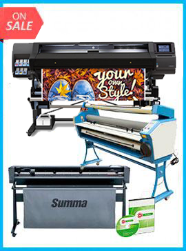 COMPLETE SOLUTION - Plotter HP Latex 560 - Recertified (90 Days Warranty) + SummaCut D160 64 in (160 cm) vinyl and contour cutting – New + Upgraded Ving 63