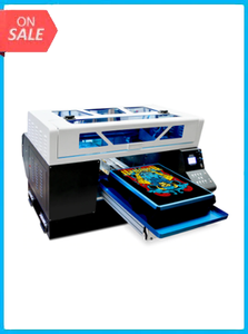 Automatic A3 + Size T-shirt Flatbed Printer Fast Speed DTG Printer Print on Light And Dark Color t-shirt Printing Machine