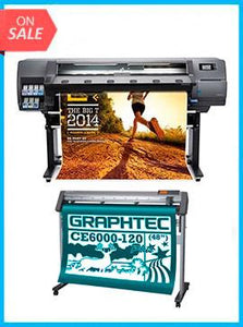 "BUNDLE - Plotter HP Latex 310 54""  - Recertified - (90 Days Warranty) + GRAPHTEC CUTTER CE6000-120 48"" Cutter - New"