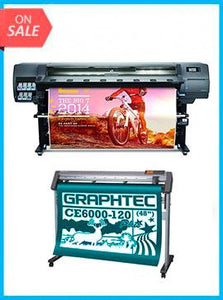 "BUNDLE - Plotter HP Latex 330 64""  - Recertified - (90 Days Warranty) + GRAPHTEC CUTTER CE6000-120 48"" Cutter - New"