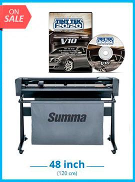SummaCut D120 48 in (120 cm) vinyl and contour cutting - New + Tint Tek 20/20 Window Film Cutting Software V10 Monthly Subscription
