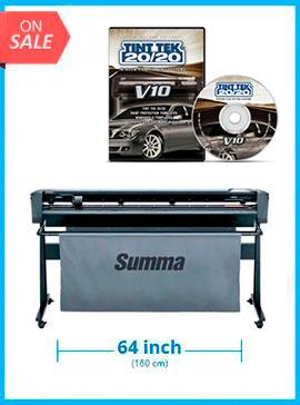 Copy of SummaCut D160 64 in (160 cm) vinyl and contour cutting - New +Tint Tek 20/20 Window Film Cutting Software - 1 Year Subscription