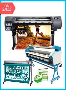 COMPLETE SOLUTION - Plotter HP Latex 310 - Recertified - (90 Days Warranty) + GRAPHTEC CUTTER CE6000-120 48