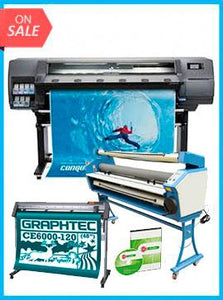 "COMPLETE SOLUTION - Plotter HP Latex 315 54"" - Recertified - (90 Days Warranty) + GRAPHTEC CUTTER CE6000-120 48"" Cutter - New + 55"" Full-auto Low Temp. Wide Format Cold Laminator, with Heat Assisted + Includes Flexi RIP Software"
