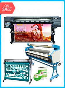 "COMPLETE SOLUTION - Plotter HP Latex 330 64"" - Recertified - (90 Days Warranty) + GRAPHTEC CUTTER CE6000-120 48"" Cutter - New + Upgraded Ving 63"" Full-auto Low Temp. Wide Format Cold Laminator, with Heat Assisted + Includes Flexi RIP Software"