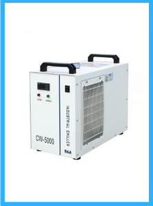 S&A CW-5000DG Industrial Water Chiller (AC 1P 110V 60Hz) for 80W/100W/120W CO2 Glass Laser Tube Cooling, 0.41HP