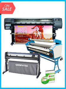 "COMPLETE SOLUTION - Plotter HP Latex 330 - Recertified (90 Days Warranty) + GRAPHTEC CUTTER FC9000-160 64"" (162.6 cm) Wide Cutter - New + Upgraded Ving 63"" Full-auto Low Temp. Wide Format Cold Laminator, with Heat Assisted + Includes Flexi RIP Software"