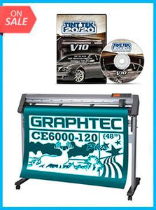 "BUNDLE - Graphtec CE6000-120 48"" Cutter - New + Tint Tek 20/20 Window Film Cutting Software V10 Monthly Subscription"