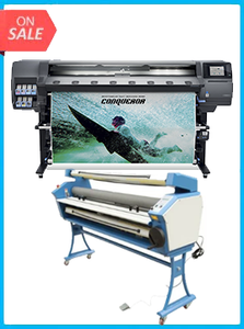 "HP Latex 365 Printer (V7L47A) - New + UPGRADED VING 63"" FULL-AUTO LOW TEMP. WIDE FORMAT COLD LAMINATOR, WITH HEAT ASSISTED"