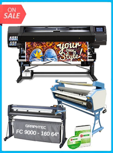 "HP Latex 560 64"" - New + GRAPHTEC FC9000-160 64"" (162.6 CM) WIDE CUTTER - NEW + UPGRADED VING 63"" FULL-AUTO LOW TEMP. WIDE FORMAT COLD LAMINATOR, WITH HEAT ASSISTED + FLEXI RIP SOFTWARE"