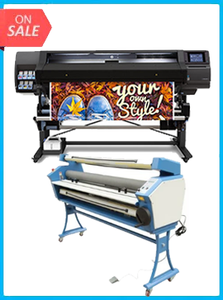 "HP Latex 560 64"" - New + UPGRADED VING 63"" FULL-AUTO LOW TEMP. WIDE FORMAT COLD LAMINATOR, WITH HEAT ASSISTED"