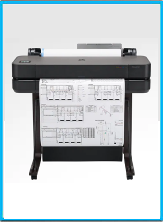 HP DesignJet T630 Large Format Wireless Plotter Printer - 24